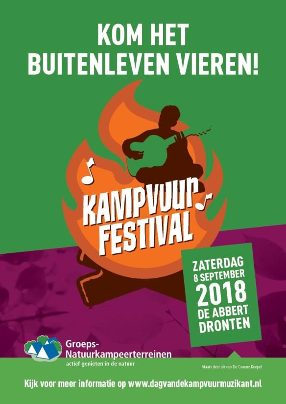 Kampvuurfestival nieuwe poster